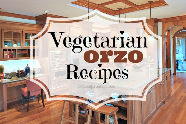 vegetarian orzo recipes
