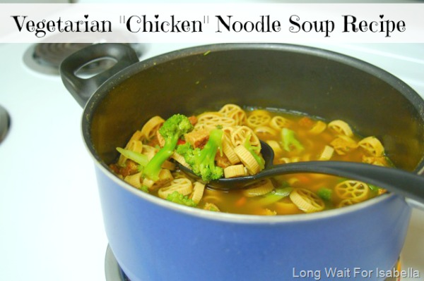 "Vegetarian ""Chicken"" Noodle Soup Recipe"