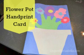 handprint flower pot card
