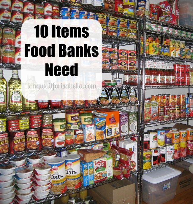 Items Food Banks Need