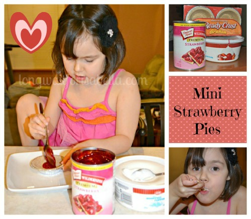 mini strawberry pie collage