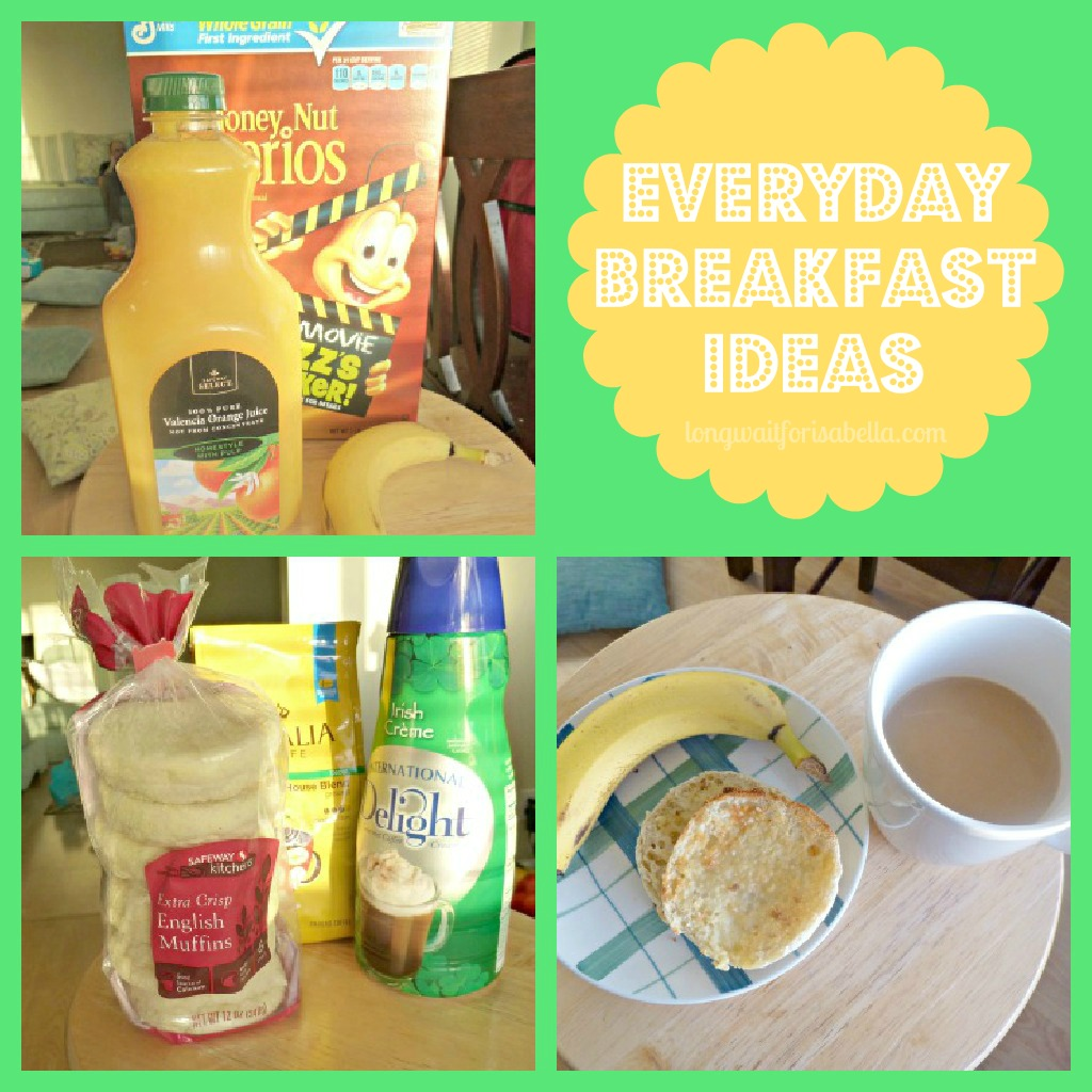 Everyday breakfast collage