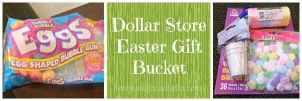 easter gift bucket Collage