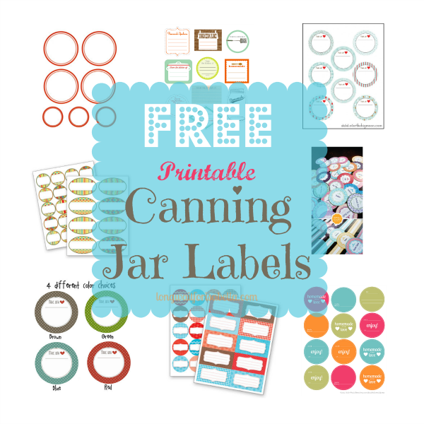 photograph about Printable Mason Jar Label referred to as Printable Canning Jar Labels