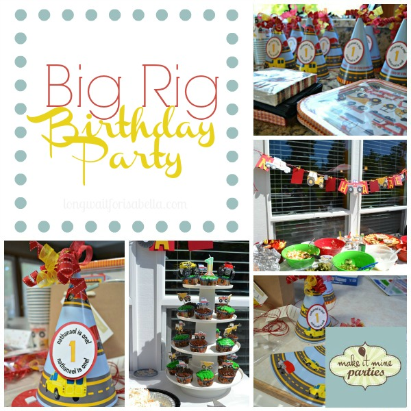Nathanael's 1st Birthday: Big Rig Birthday Party