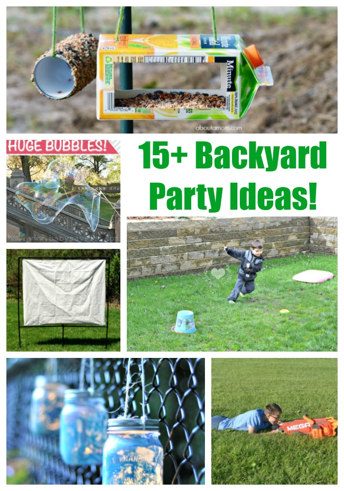 12 Backyard Party Ideas With Free Printables