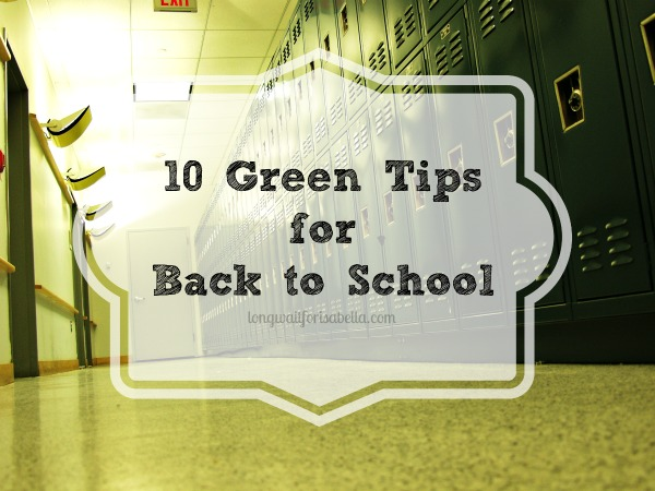 green tips for back to school