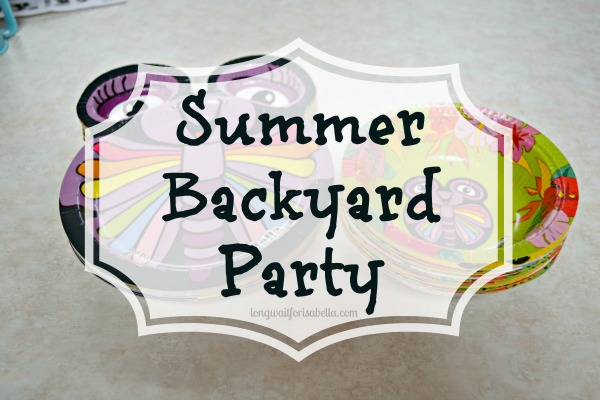 summer backyard party