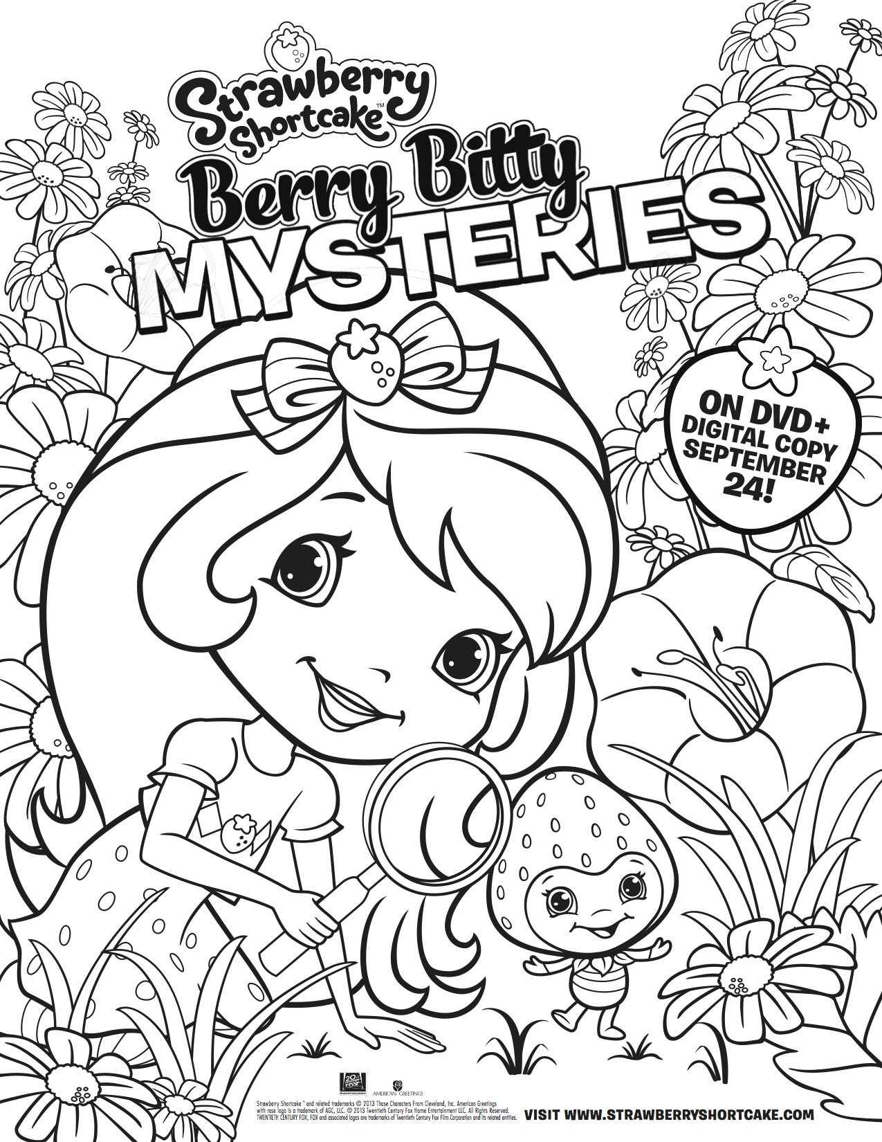 strawberry shortcake free coloring page - Strawberry Shortcake Coloring Pages