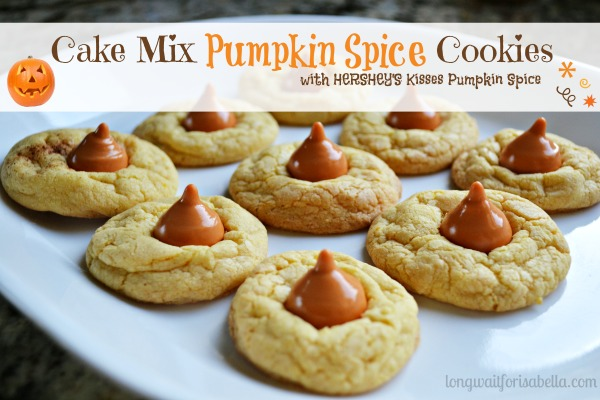 Pumpkin Spice Cake Mix Cookies