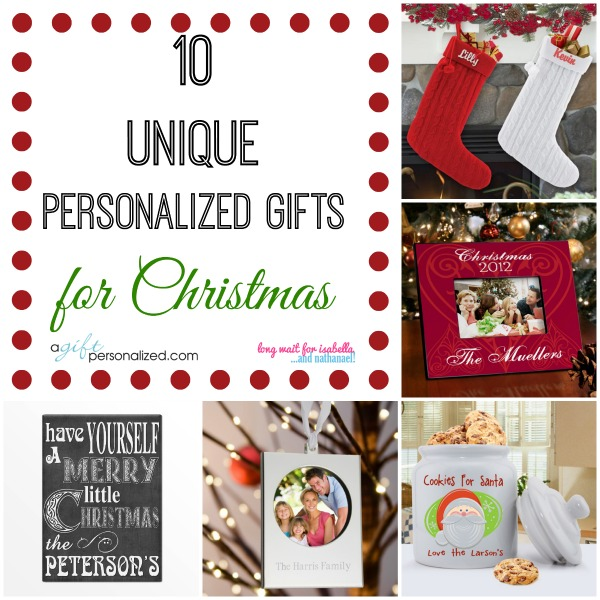 10 Unique Personalized Gift Ideas