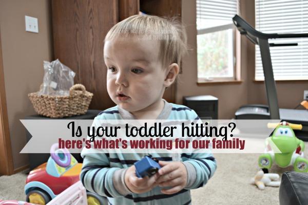 toddler is hitting