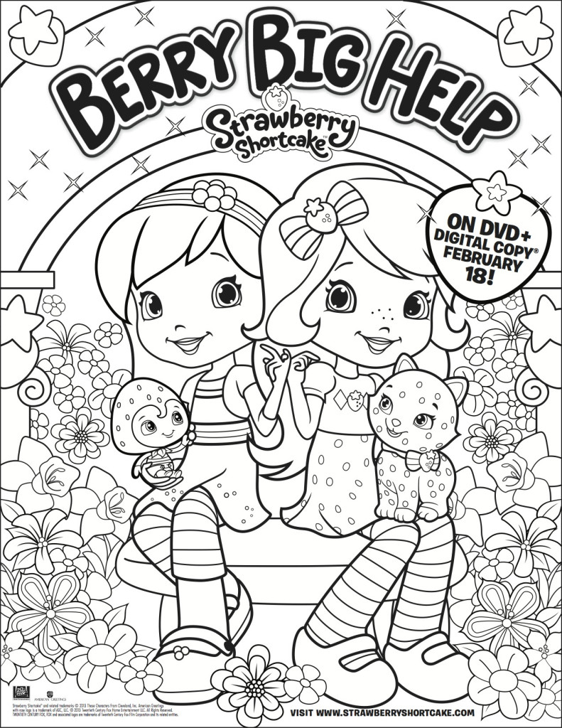 Strawberry Shortcake Coloring Page - Long Wait For Isabella