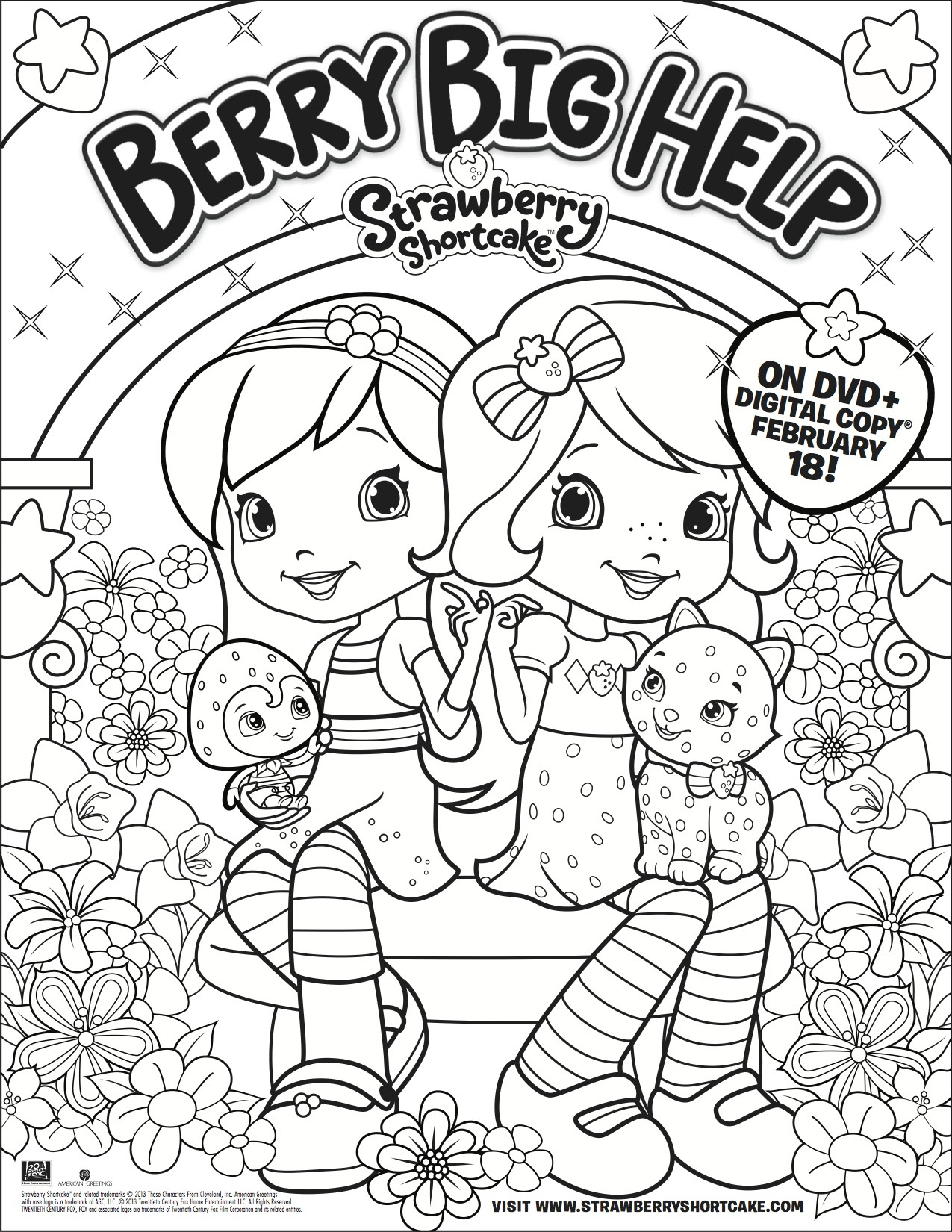 strawberry shortcake dvd berry big help here is a free printable coloring page for your children simply right click on the image save it or open it - Strawberry Shortcake Coloring Pages
