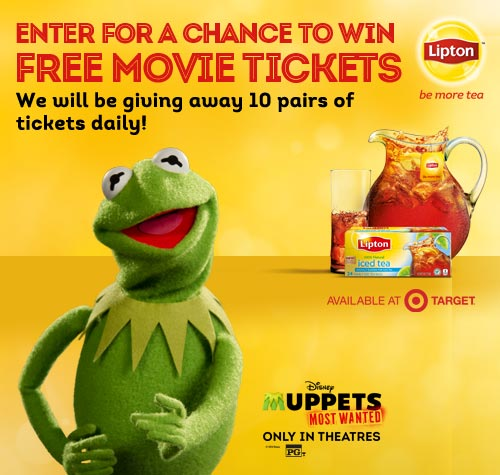 The Muppets Most Wanted Lipton Sweepstakes