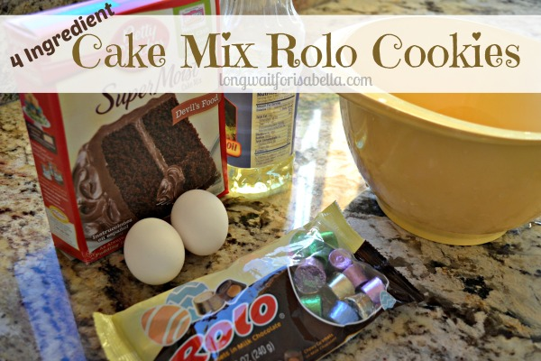 Cake Mix ROLO Cookies