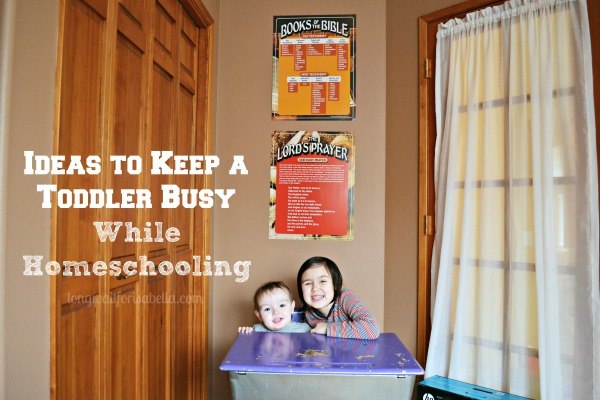 Ideas to Keep a Toddler Busy While Homeschooling