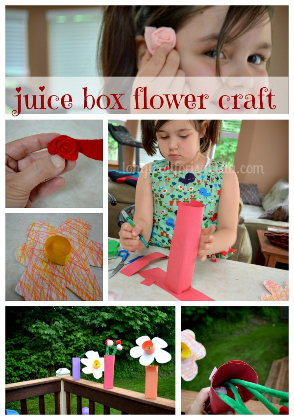 Juice Box Flower Crafts