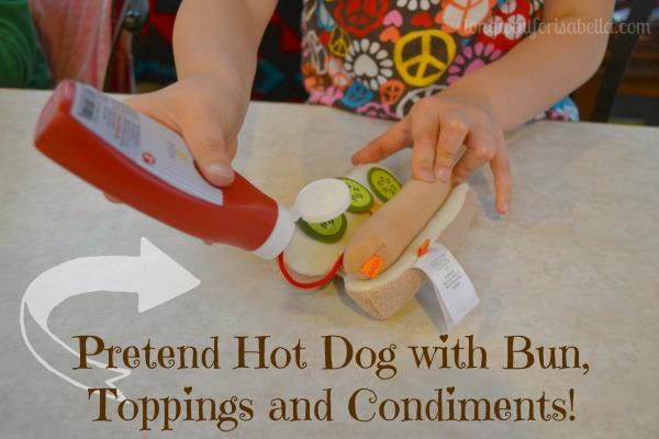 pretend hotdog with bun