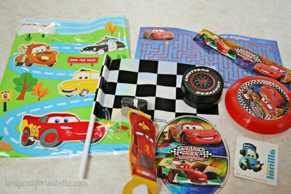 Cars Birthday Party Favors