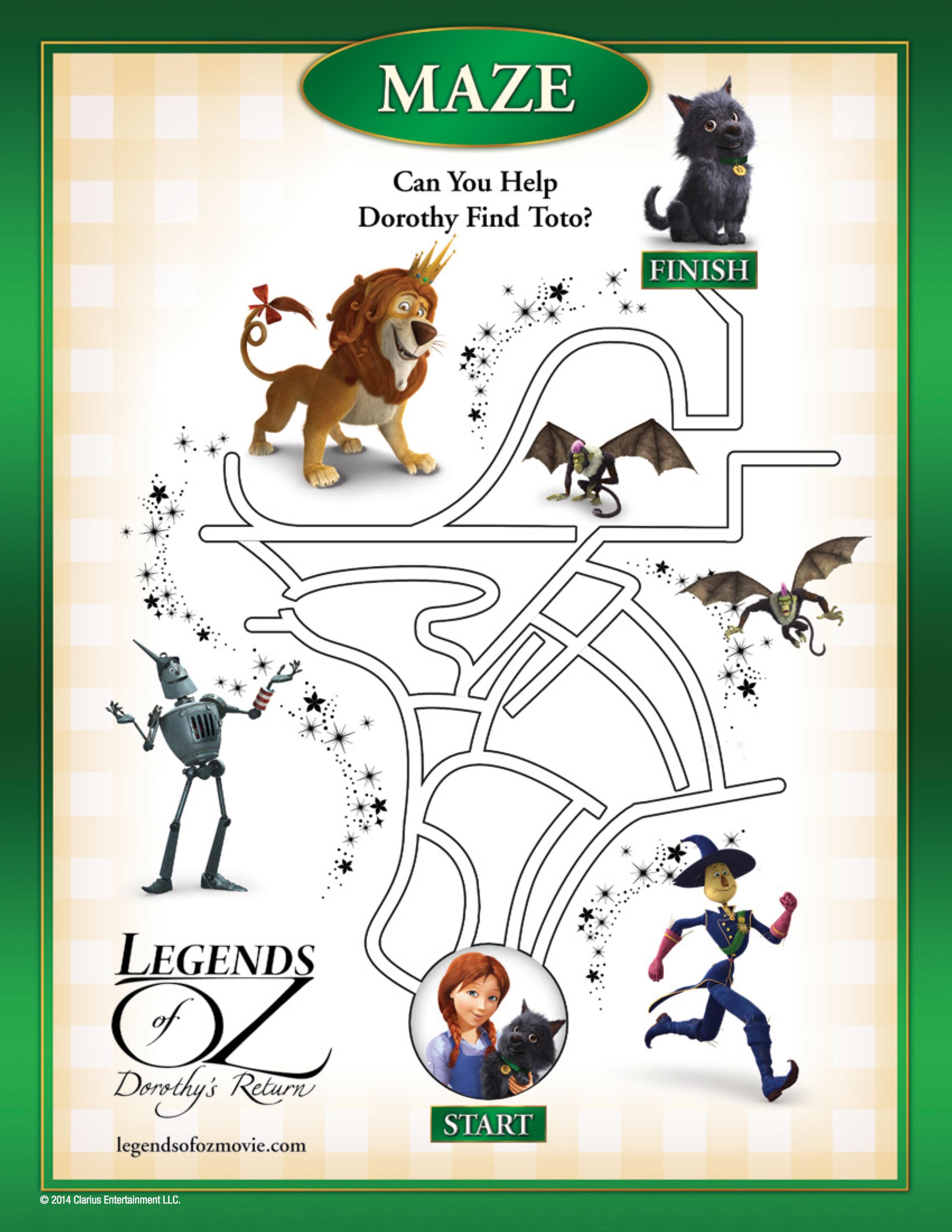 Free Legends Of Oz Printables Long Wait For Isabella