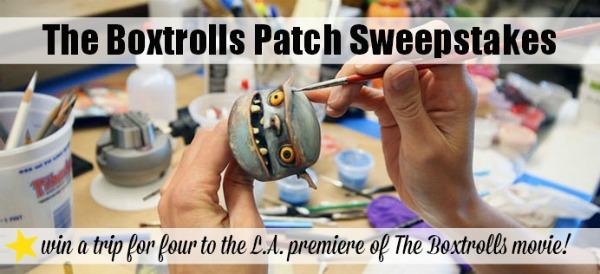 The Boxtrolls Patch Sweepstakes #BuildaBoxtrollsSweeps