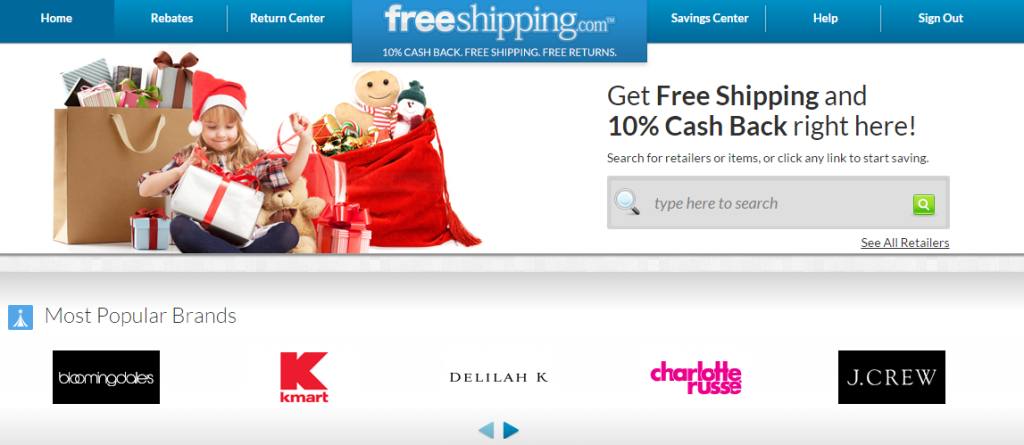 FreeShipping.com screenshot