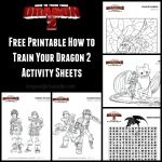 How to Train Your Dragon 2 Activity Sheets #HTTYD2