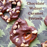 Chocolate Walnut Caramel Pretzels Recipe