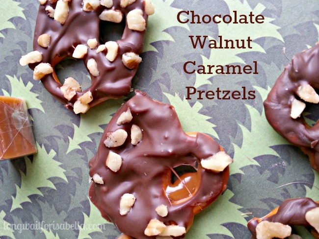 chocolate walnut caramel pretzels recipe
