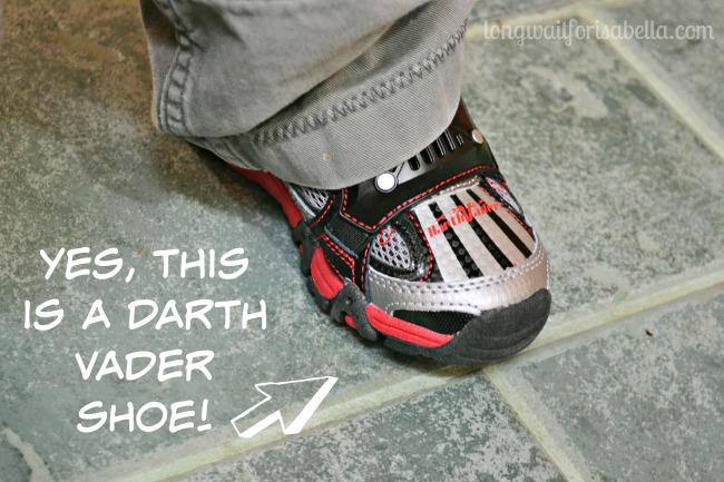 darth vader shoe