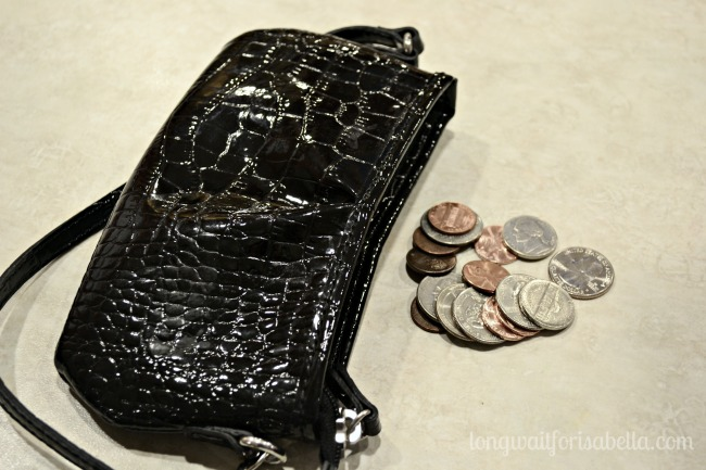small purse and coins