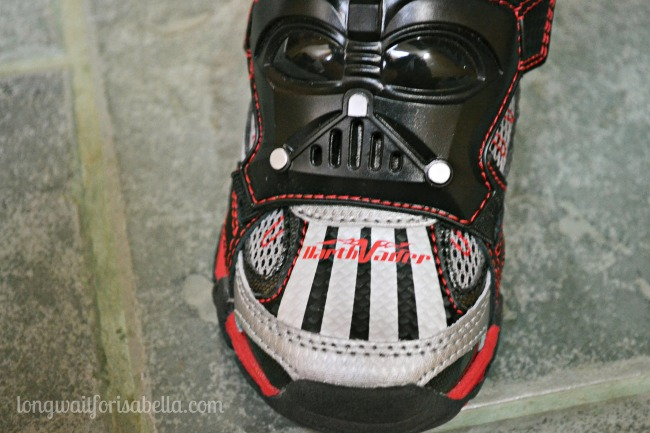 He's in LOVE with his Star Wars Shoes!