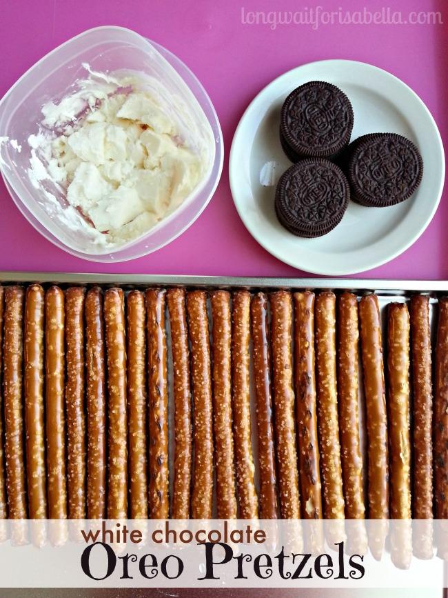 white chocolate oreo pretzels ingredients