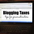 Blogging Taxes? I should have started sooner!