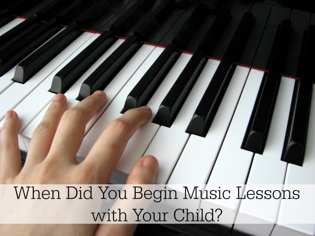 When Did You Begin Music Lessons with Your Child?