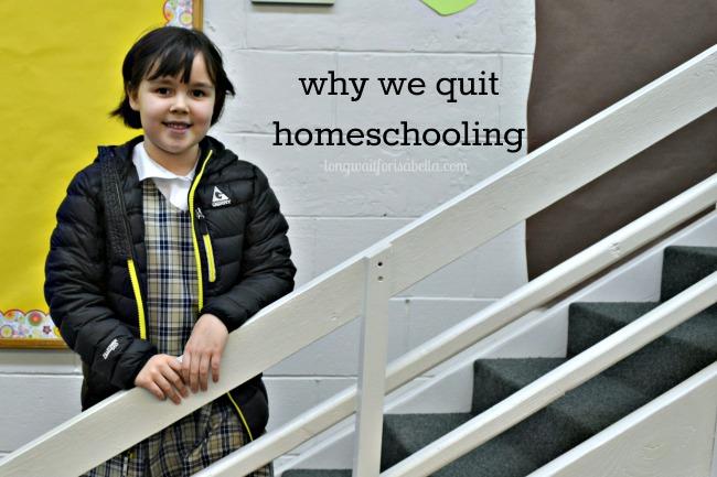 quit homeschooling