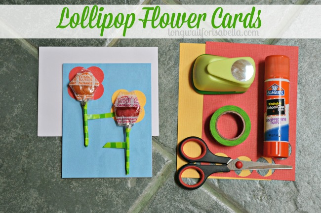 Lollipop Flower Cards