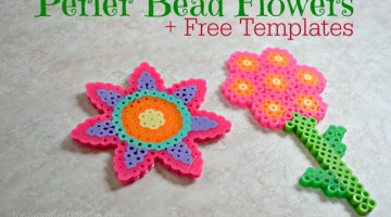 Perler Bead Flowers are Perfect for Spring!