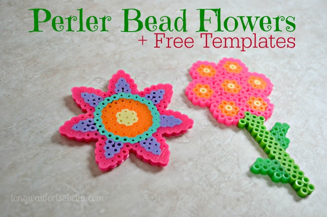 Perler Bead Flower Templates