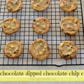Springtime White Chocolate Dipped Chocolate Chip Cookies
