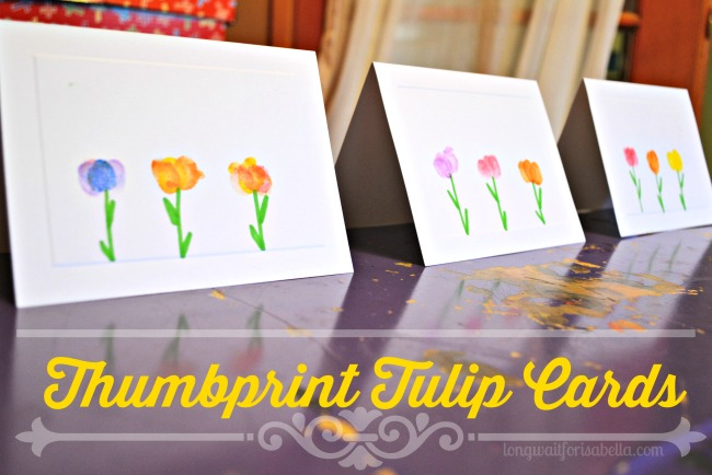 Thumbprint Tulip Cards