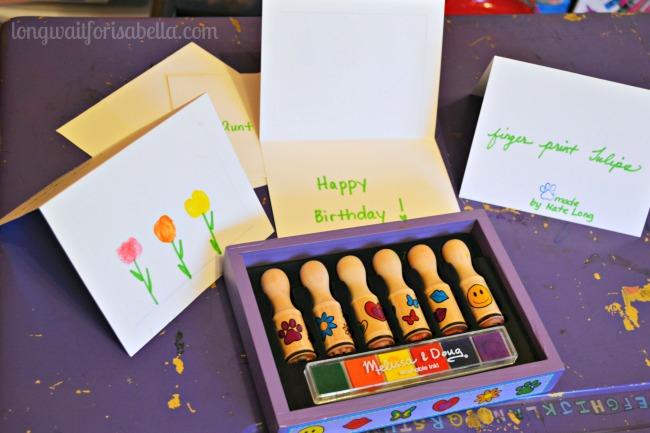 fingerprint tulip cards