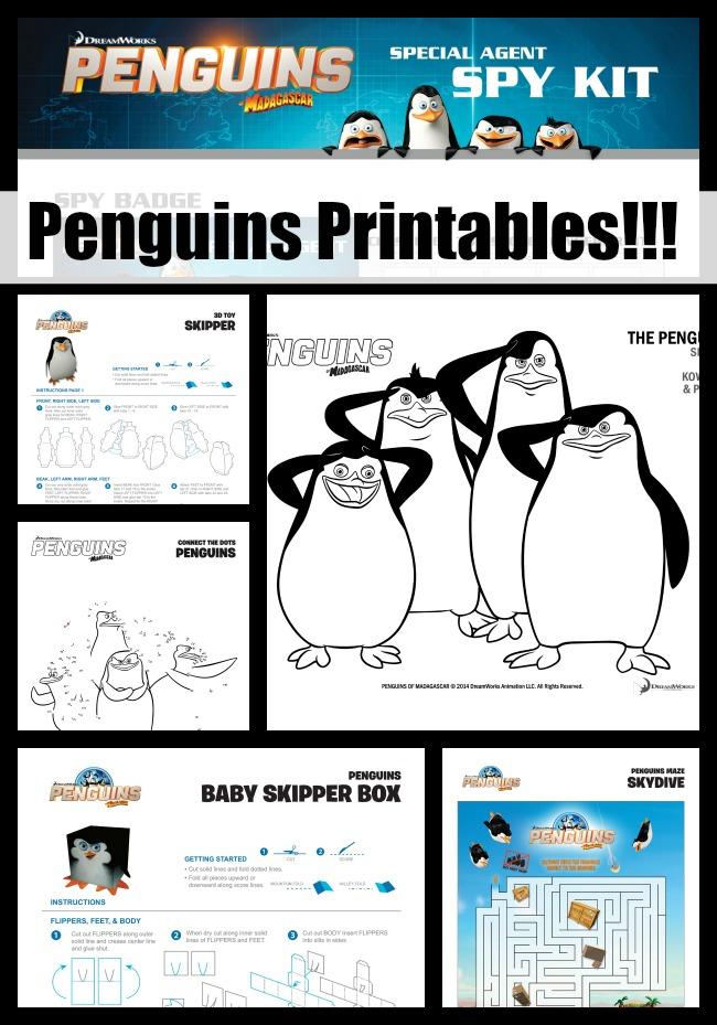 penguins of madagascar printables