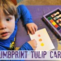 Thumbprint Tulip Cards Just in Time For Spring