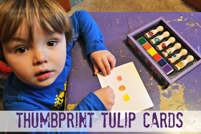 thumbprint tulip cards