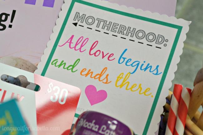 Motherhood Gift Tag