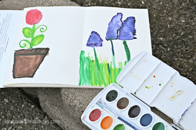 Watercolor Flowers for Kids