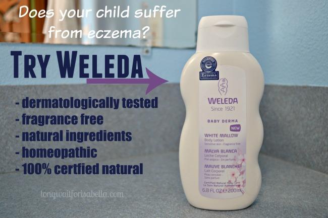 Weleda Skin Care: Treating her Mild Eczema Naturally
