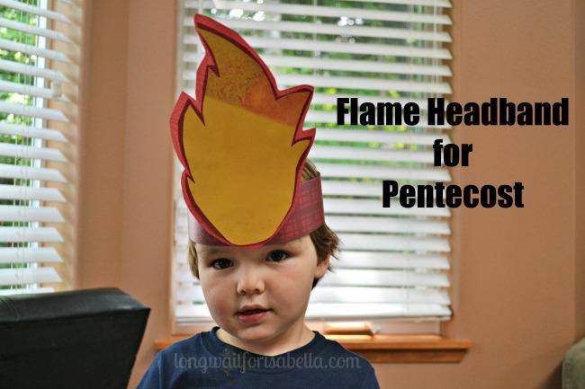 Flame Headband for Pentecost